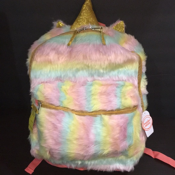 Plush Rainbow Unicorn Backpack NWT NWT